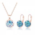 Set Rosie: náušnice + náhrdelník B0152 Zirconia Luxury - Swarovski Elements