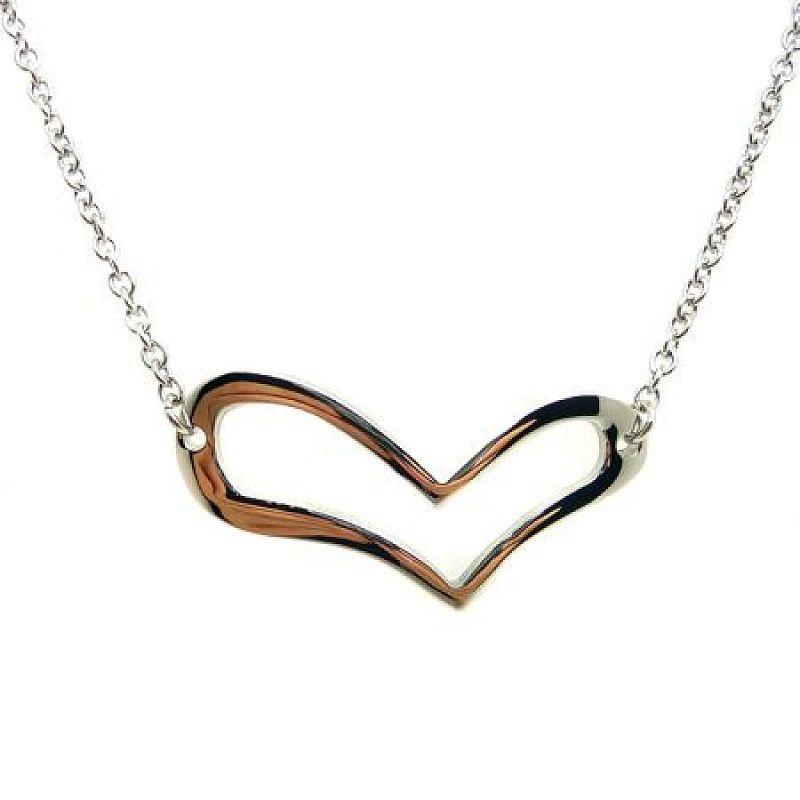 Řetízek se srdíčkem Pretty Heart S2344 chirurgická ocel