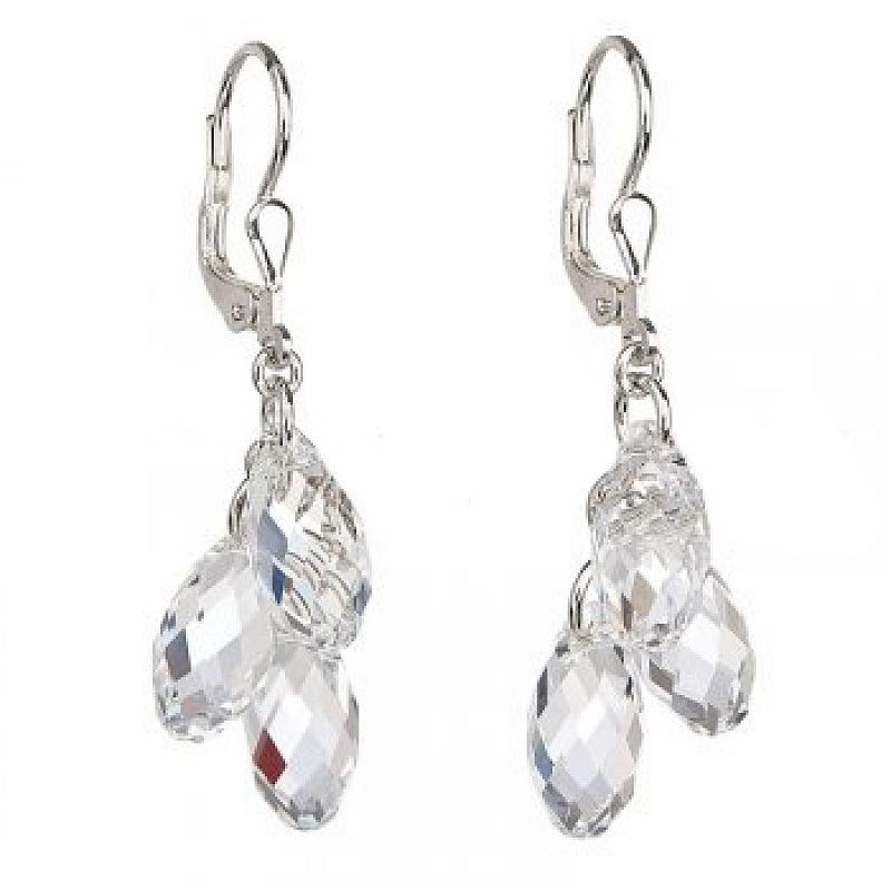 Stříbrné náušnice Swarovski Elements Drops Crystal AG2034