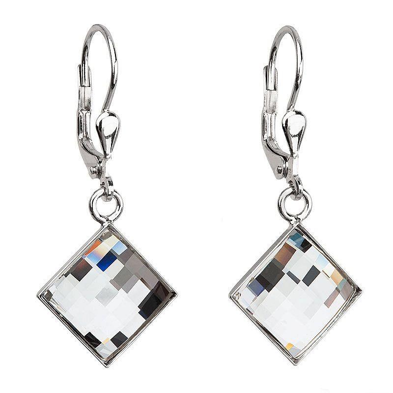 Stříbrné náušnice Swarovski Elements Chessboard Crystal AG2007