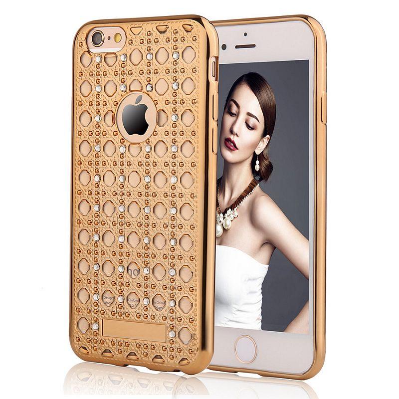 Pouzdro/ kryt pro Apple iPhone 5 5S SE/ TPU Gold Crystal