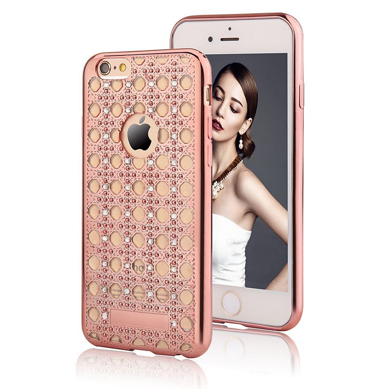 Pouzdro/ kryt pro Apple iPhone 5 5S SE/ TPU Rose Gold Crystal