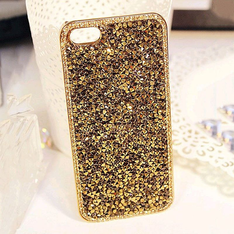 Pouzdro/ Kryt pro Apple iPhone 5 5S SE/ 3D Luxury Crystal Gold