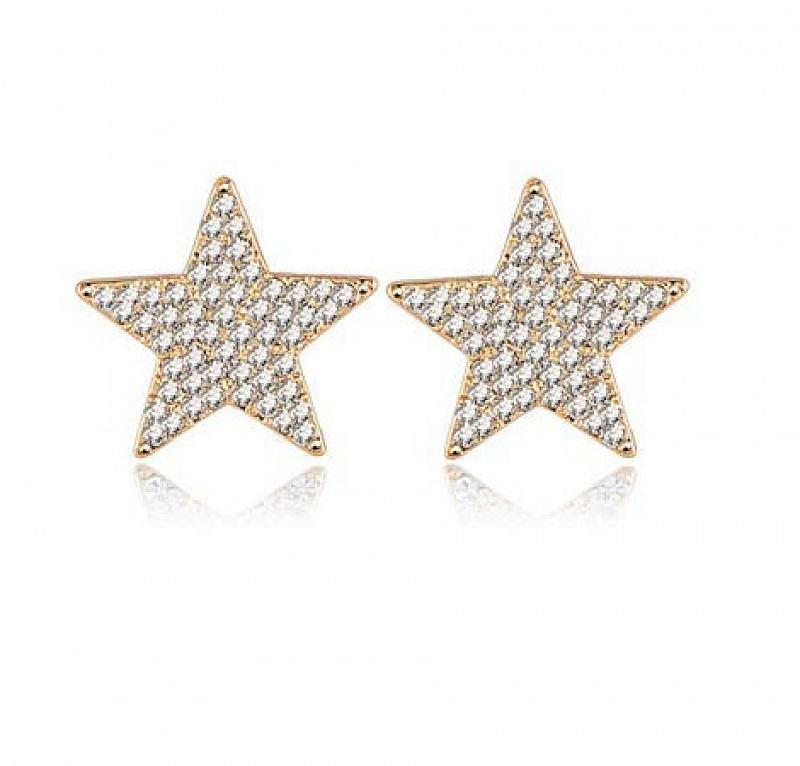 Náušnice Gold Star B0020 Zirconia Luxury