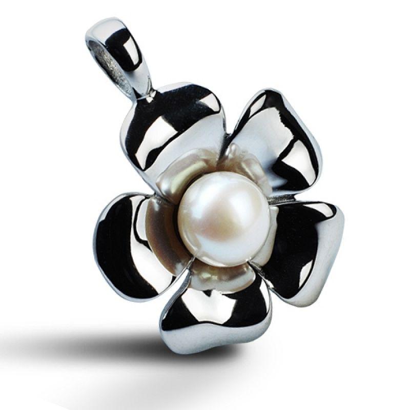 Přívěšek Kytička zdobená perličkou AP1072 chirurgická ocel
