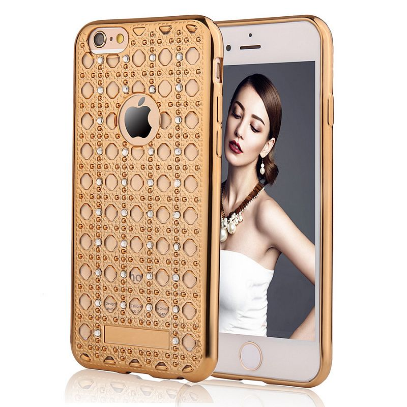 Pouzdro/ kryt pro Apple iPhone 6 6S/ TPU Gold Crystal