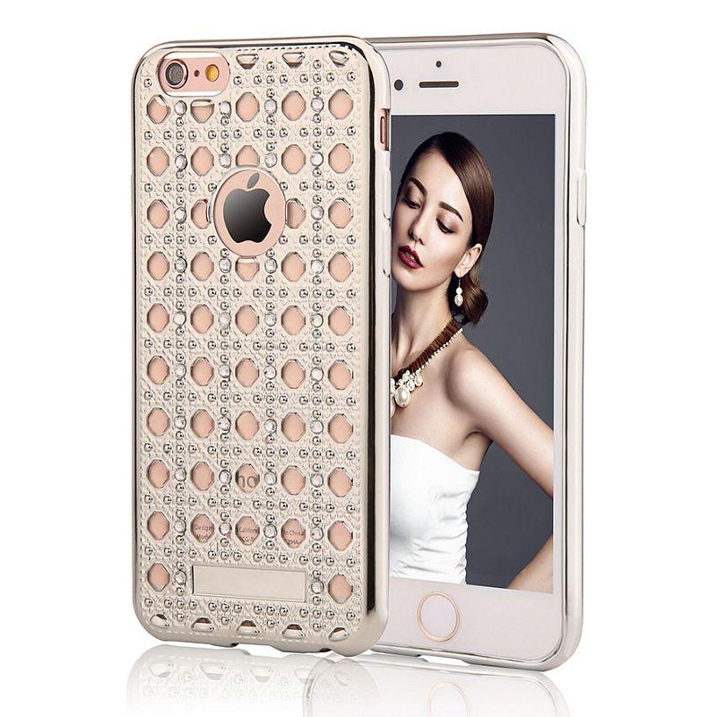 Pouzdro/ kryt pro Apple iPhone 6 6S/ TPU Silver Crystal