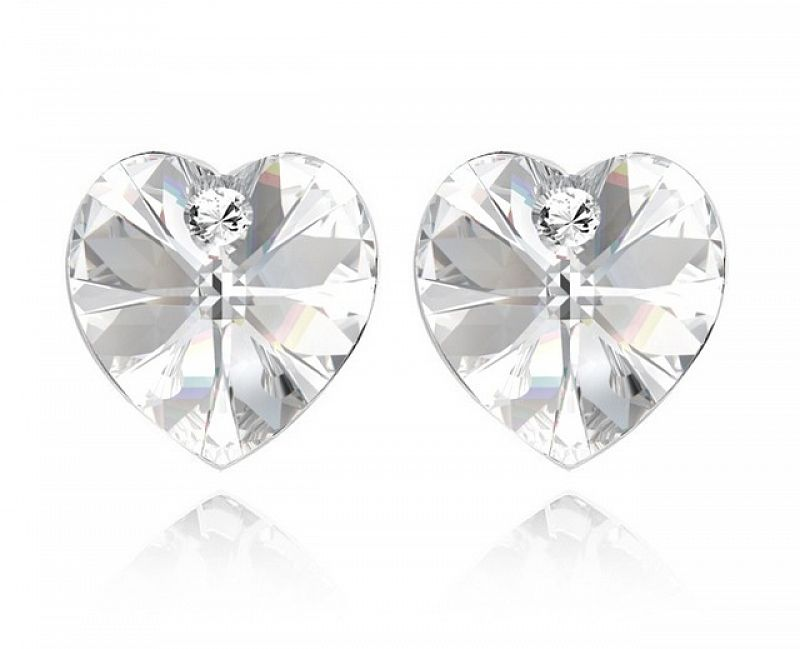 Náušnice Srdce Swarovski Elements Crystal, 2019CR