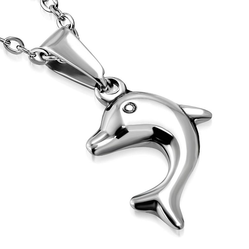 Řetízek s přívěskem Delfín AP1450 chirurgická ocel