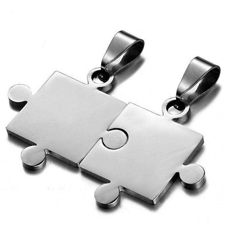 Partnerské přívěsky Puzzle - 2 kusy AP1307 chirurgická ocel