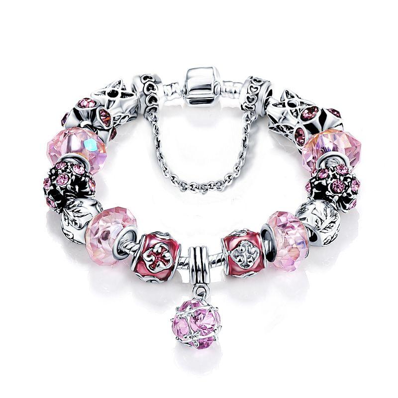 Dámský náramek ve stylu Pandory Pink Charm P0053