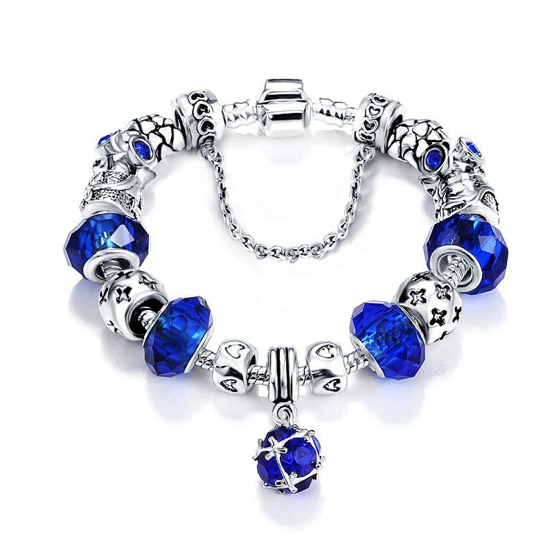 Dámský stylový náramek Blue Charm P0052