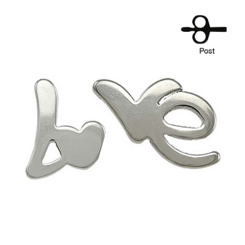 Náušnice LOVE AN1275S chirurgická ocel