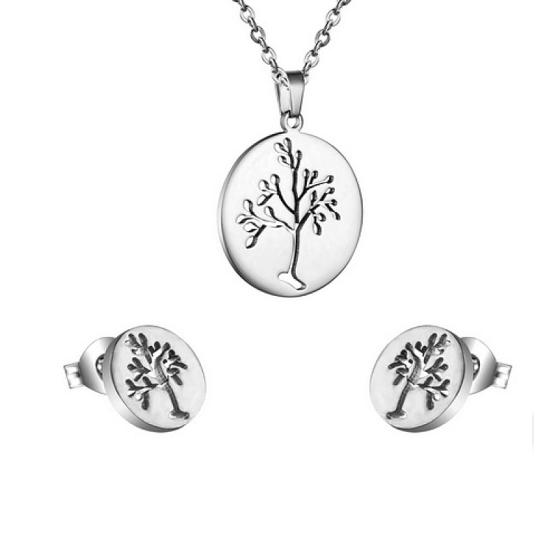 Sada Strom života: náhrdelník + náušnice A0010 chirurgická ocel