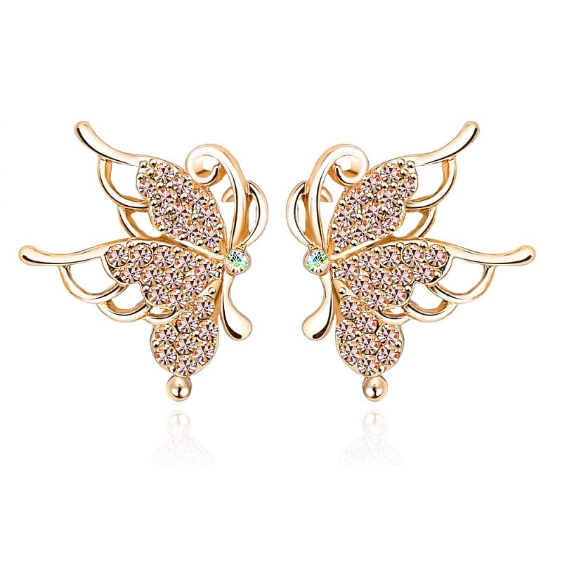 Náušnice Butterfly B0075 Zirconia Luxury