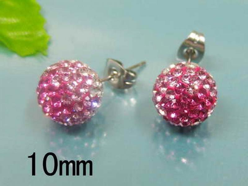 Náušnice Ball Pink S845 chirurgická ocel