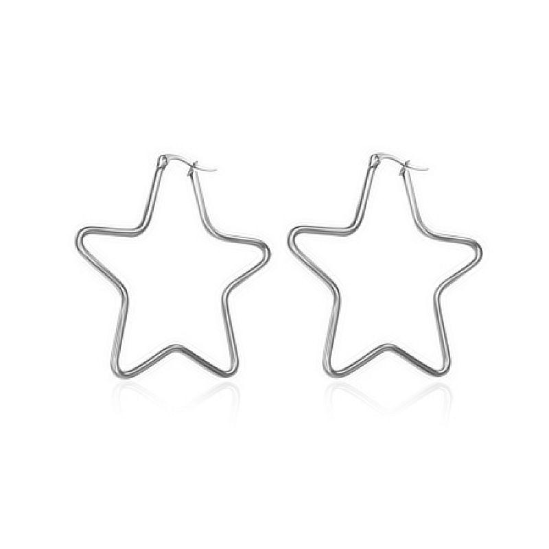 Náušnice Hvězda 4cm N2526 chirurgická ocel