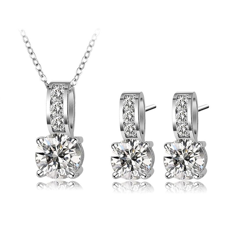 Set Aimee: náušnice + náhrdelník B0002 Zirconia Luxury