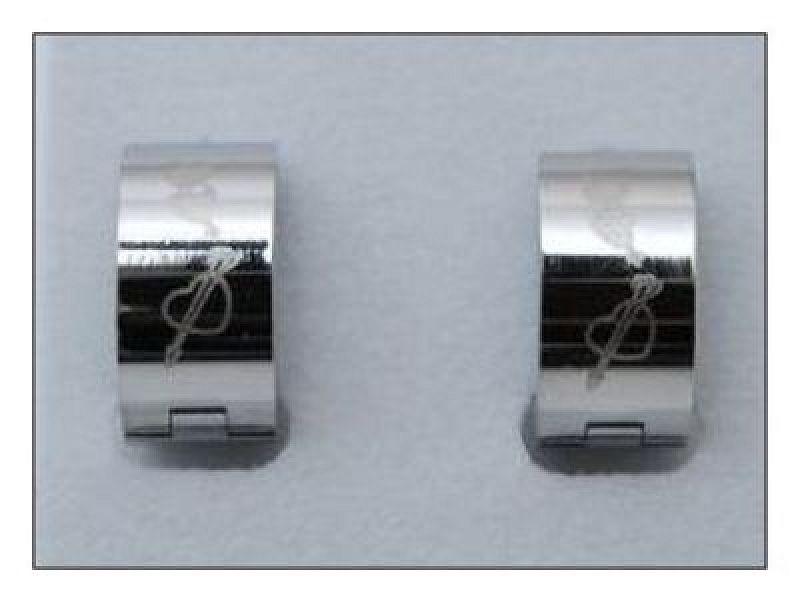 Náušnice kroužky se srdíčky C573 chirurgická ocel