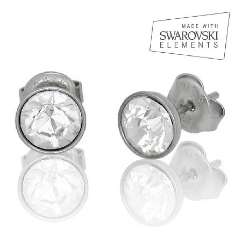 Náušnice se Swarovski krystaly N307 chirurgická ocel