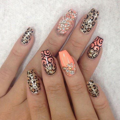 leopardí gelové nehty