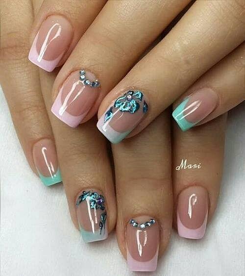 francouzské gelové nehty